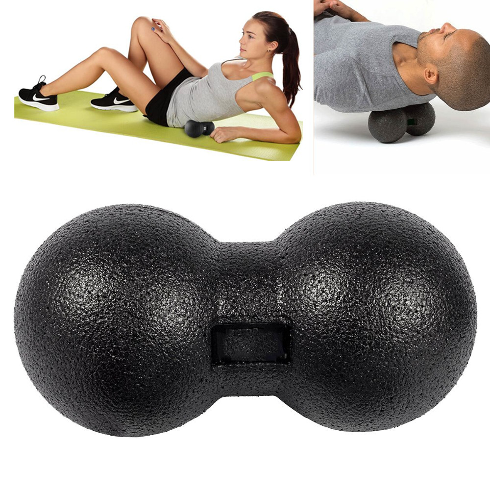 EPP Peanut Massage Ball Myofascial Release Fitness Massage Roller Trigger Point Therapy Double Lacrosse Yoga Ball Relax Exercise