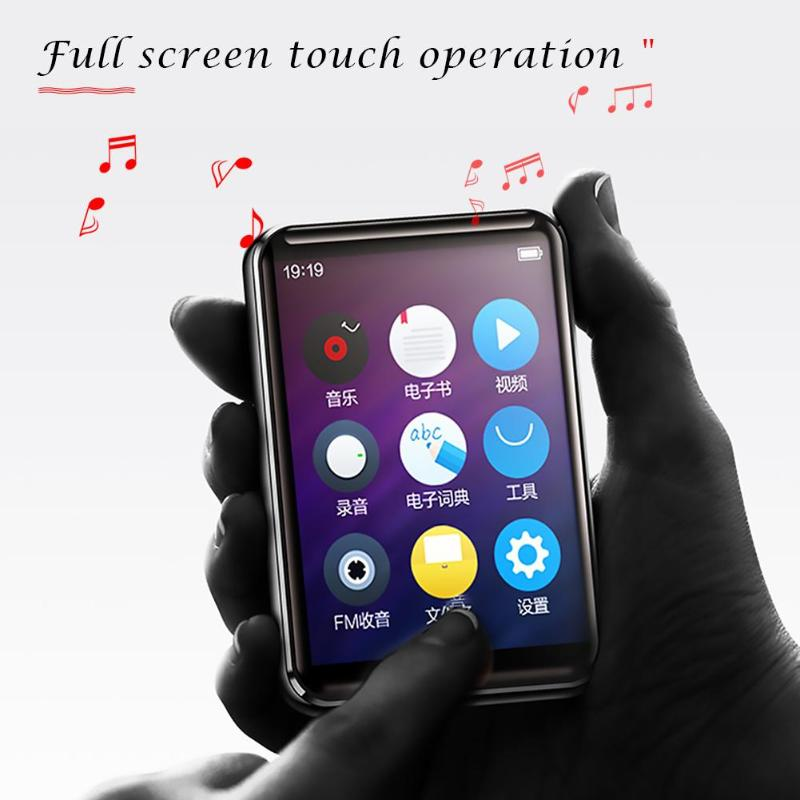 BENJIE X5 Bluetooth MP3 Player 8GB 16GB Full Touch Screen Music Player With FM Radio Video Player E-book Player MP3 With Speaker