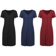 Maternity-Dress Sleepwear Feeding Nursing Short-Sleeve Women's Baby