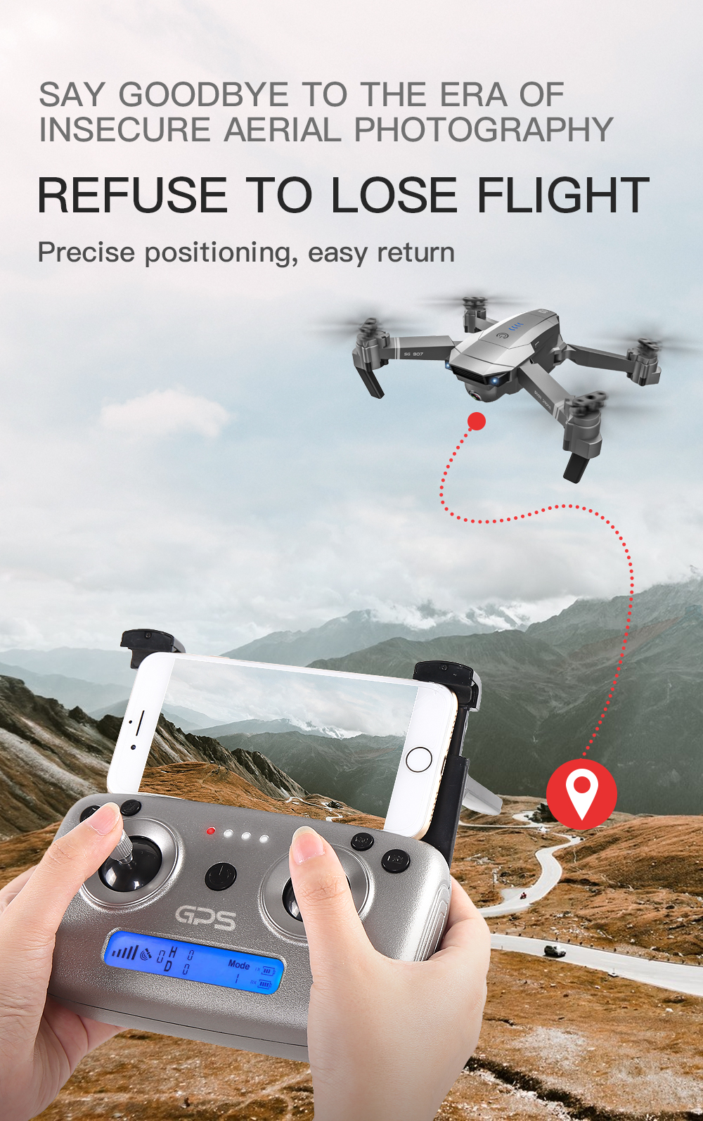 SG907 WIFI RC Quadcopter GPS Drone with 4K HD Dual Camera for Wide Angle Video Shooting 19