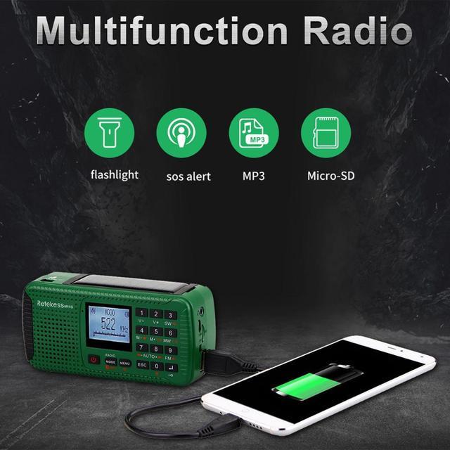 Портативный радиоприемник RETEKESS HR11S Bluetooth FM/MW/SW MP3