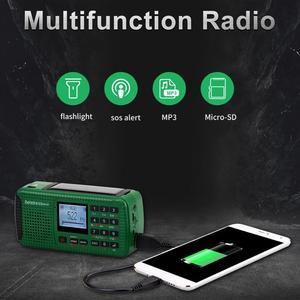 Image 2 - RETEKESS HR11S Tragbare Radio Bluetooth lautsprecher Solar Notfall Radio Empfänger FM MW SW Mit MP3 Player Digital Recorder