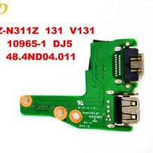 Для Dell 13Z-N311Z 131 V131 звуковая плата USB доска 13Z-N311Z 10965-1 DJ5 48.4ND04.011 испытанное хорошее