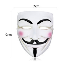 1 pièces V pour Vendetta masque Halloween mascarade effrayant fête fournitures Cosplay déguisement accessoires anonyme film Guy Fawkes
