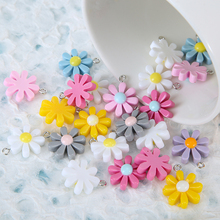 Random-Flower Keychain Earrings Charms Pendants Jewelry-Accessories Decoration Mixed-Color