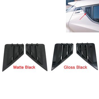 Dla Toyota C-HR CHR tylne okno trójkąt okiennice obudowa żaluzji wykończenia samochodu stylizacji ABS CHR połysk czarny matowy 2016 2017 2018 2019 tanie i dobre opinie MotoParty Matt Black Light Black For Toyota CHR 2017-2019