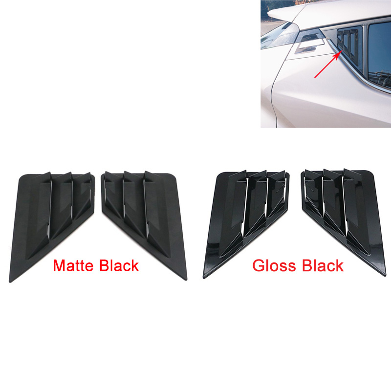 For Toyota C HR CHR Rear Window Triangle Shutters Blinds Cover Trim Car Styling ABS CHR Gloss / Matte Black 2016 2017 2018 2019|Awnings & Shelters|   - AliExpress