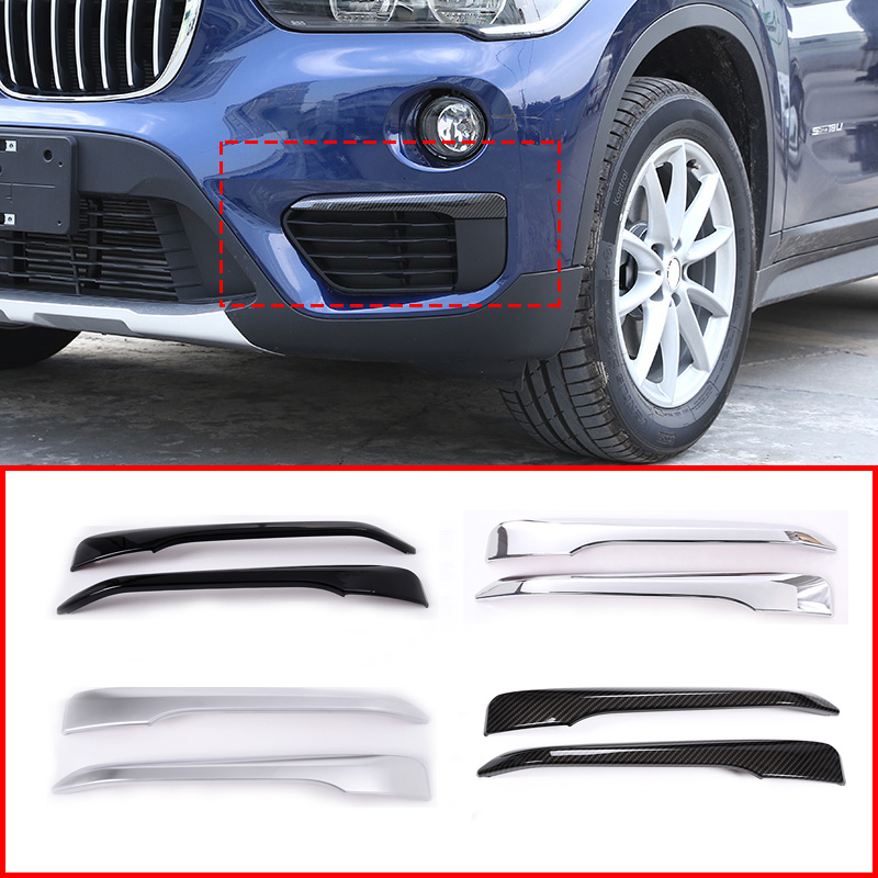 4 Style ABS Front Fog Light Strips Trim For BMW X1 F48 2016-2019 Car Accessories