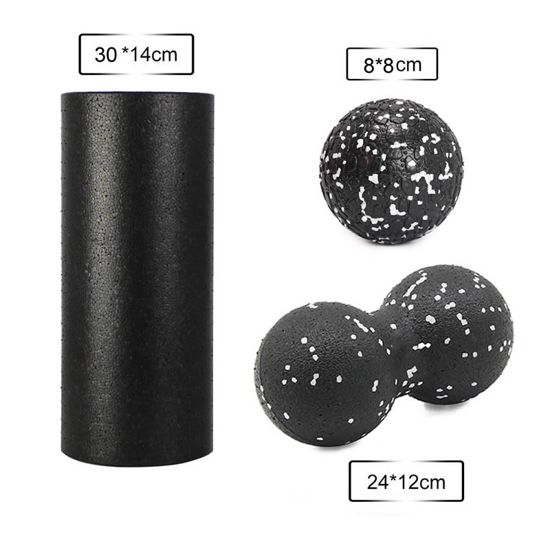 Forcefree+ Fitness Yoga Block EPP Foam Roller Massage Peanut Ball Set High Density For Physical Therapy Deep Muscle Exercise
