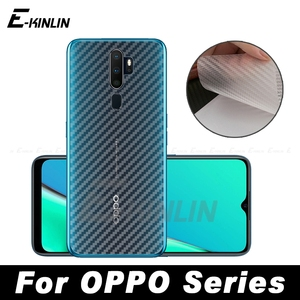 Carbon Fiber Back Cover Screen Protector Film For OPPO A1k A3 A3s A5s A91 A7 A73 A73t A79 A83 A5 A9 A31 2020 AX5 AX7 Not Glass(China)