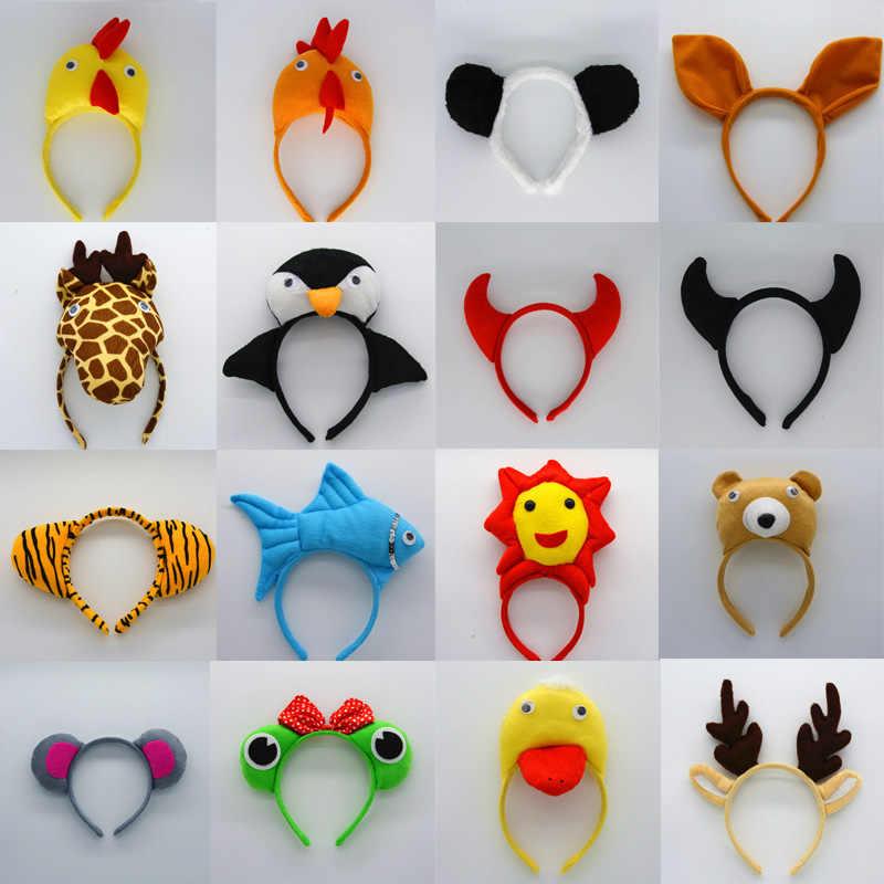 Niños adultos Diadema con orejas de animal abeja tigre de dibujos animados Cosplay accesorios sombreros Carnaval de los niños fiesta de cumpleaños, halloween regalo