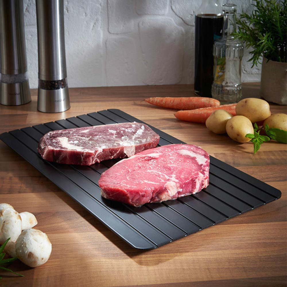 1PC Fast Defrosting Tray Thaw Frozen Food Meat Fruit Quick Defrosting Plate Board Defrost Kitchen Gadget Tool image