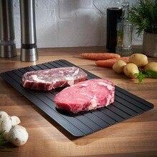 Bandeja de descongelación rápida, descongelamiento de COMIDA CONGELADA, placa de descongelación rápida para carne y fruta, utensilio de descongelación para Cocina