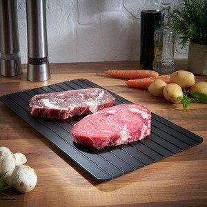 Image 1 - Hızlı buz çözme tepsisi tepsisi dakikalarda dondurulmuş gıdalar et meyve hızlı Defrost plaka levha Defrost mutfak Gadget aracı