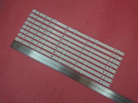 Luz de Fundo para 43pff5459 Novo 3 v 415 Milímetros Tira Conduzida 42puf6052 K420wd7 4708-k420wd-a3213k01 K420wdb Th-43c500c Kit 8 Pcs 5led