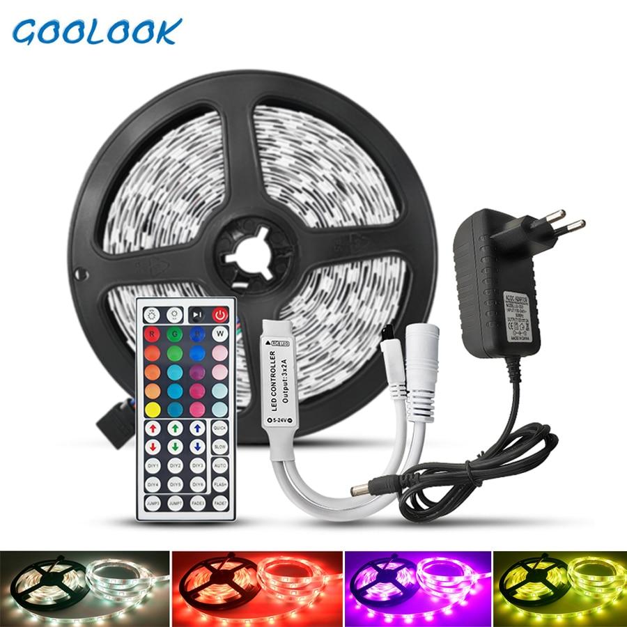 5M 10M LED Strip Light SMD 5050 2835 DC12V RGB Strip 15m Led Tape Diode Ribbon Flexible LED Light Wifi IR Controller Adapter
