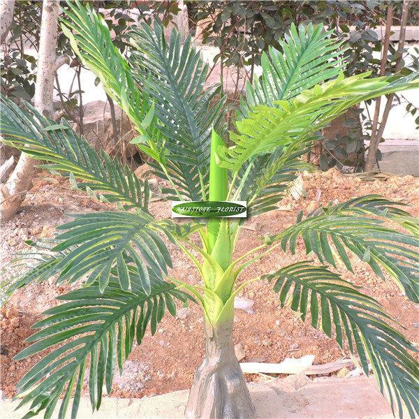 Patio Large 86 Artificial Plant Palm Bamboo Sago Home Phoenix Office Wedding Decor Tree 2pcs Latex F482 CM Furniture
