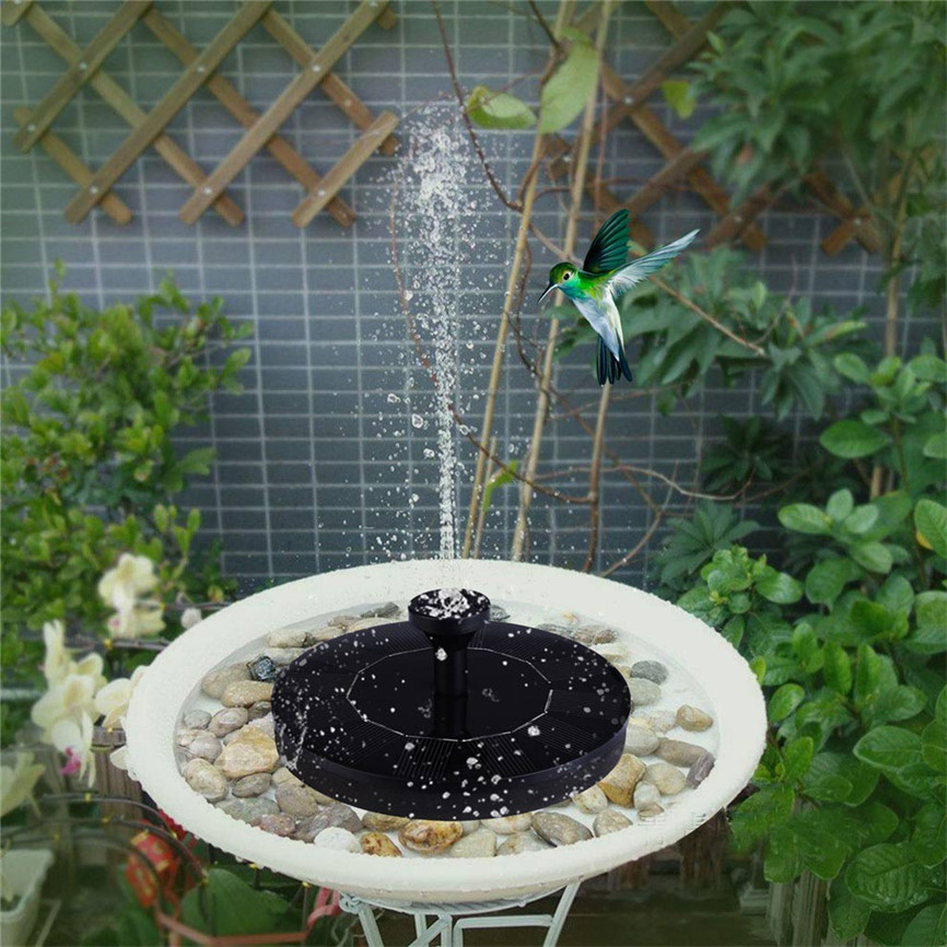 Water-Pump Fountains Floating Birdbath Solar-Bird Garden