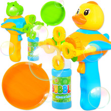 Children's Bubble Machine Toy Lovely Duck Cartoon Kid Parent-child Toys Colorful Bubbles Are Automatically Blown Out Pop It Toy