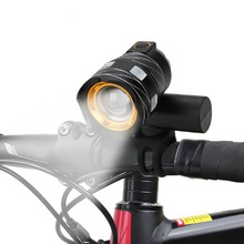 15000LM T6 USB Rear Light Adjustable Bicycle Light 3000mAh Rechargeable Battery Zoom Front Bike Headlight Lamp with Taillight usb rechargeable 15000lm xml t6 led bike front light bicycle headlamp headlight