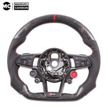 Customized Steering Wheel R8 TT Carbon Fiber For Au-di S1、S3、S4、S5、S6、S7、S8、TTS、SQ5、SQ7 RS3、RS4、RS5、RS6、RS7、TTRS、RS Q3、R8