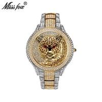Miss Fox Fashion Sport Business Mens Watches Top Brand Luxury Tiger Men Watch quartz watch Relogio Masculino