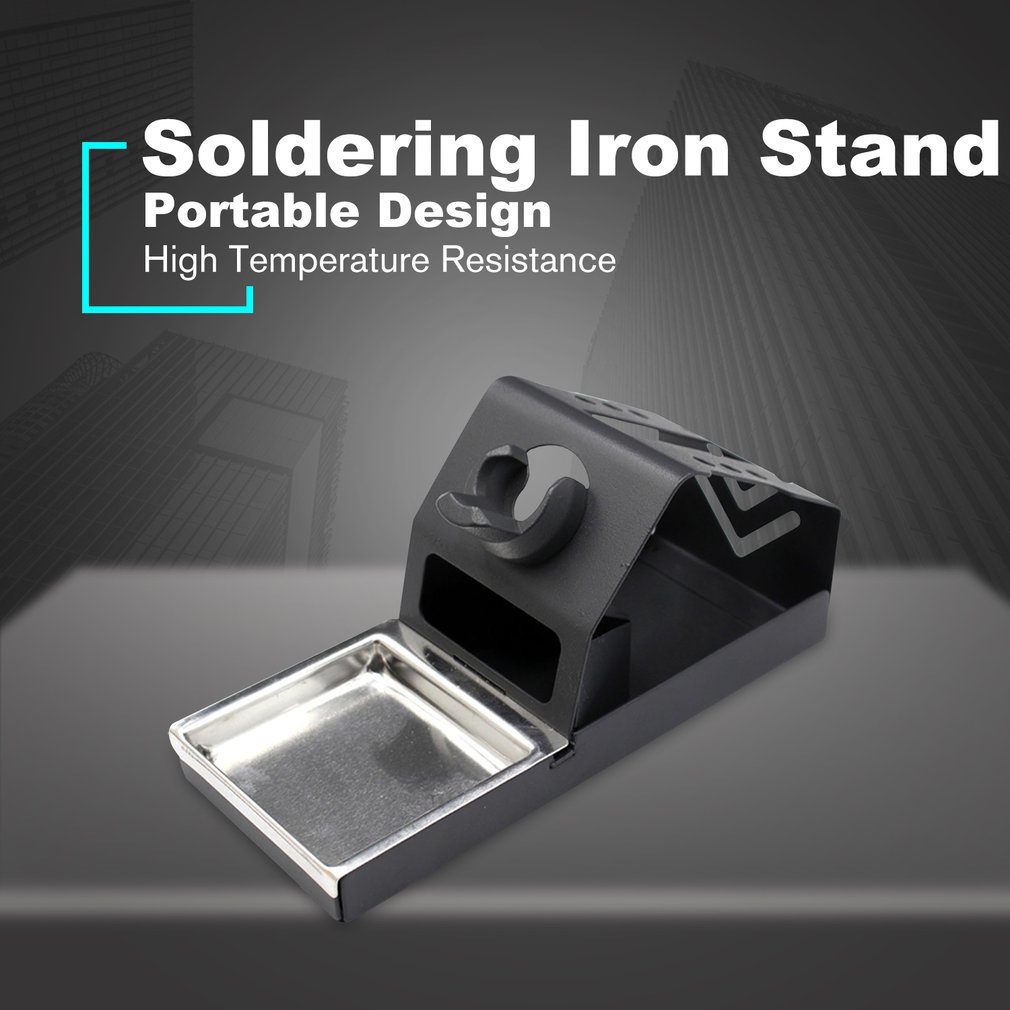 Soldering Iron Stand Holder Welding Tool Handle Metal Support Station Frame Bracket Base With Solder Sponge High Temperature