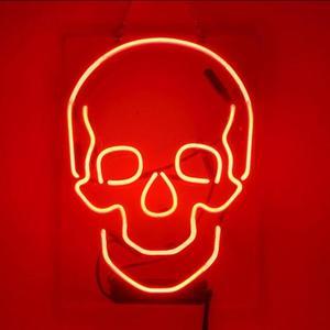 Image 1 - Barre de bière de signe de néon en verre de crâne personnalisé