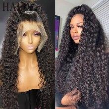 30 32 Polegada cabelo natural brasileiro água encaracolado 13x6 perucas de cabelo humano 4x4 5x5 fechamento peruca frontal para preto feminino solto onda profunda