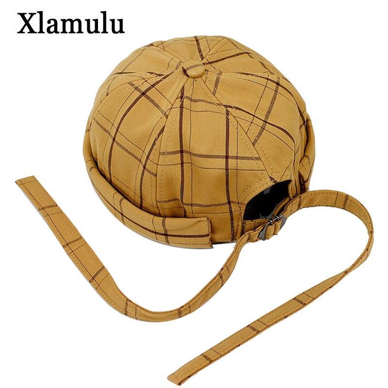 Fashion Harajuku Men Street Casual Docker Sailor Biker Hat Loop Beanie Brimless Cap Women Pumpkin Bonnet Beanie Gorra Winter Hat