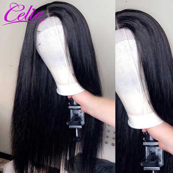 Celie Hair Lace Front Human Hair Wigs Pre Plucked Brazilian Straight Lace Front Wig For Black Women 360 Lace Frontal Wig