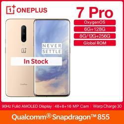 Смартфон OnePlus 7Pro с глобальной прошивкой, экран 90 Гц, дисплей 6,67 дюйма, Восьмиядерный процессор Snapdragon 855, NFC, UFS 3,0, аккумулятор 4000 мАч, камера 48 М...