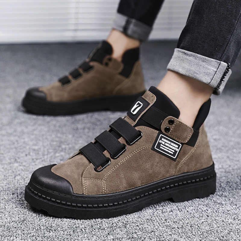 Erkek ayakkabı yetişkin yarım çizmeler askeri botlar için deri erkek botları kış ayakkabı erkekler Sneakers kışlık botlar erkekler 39 S erkek ayakkabısı