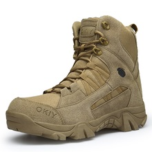 2019  Winter Army Men's Military Outdoor Desert Combat Tactic Combat Boots Men Snow Tactical Hiking Boots Botas Hombre Zapats недорого