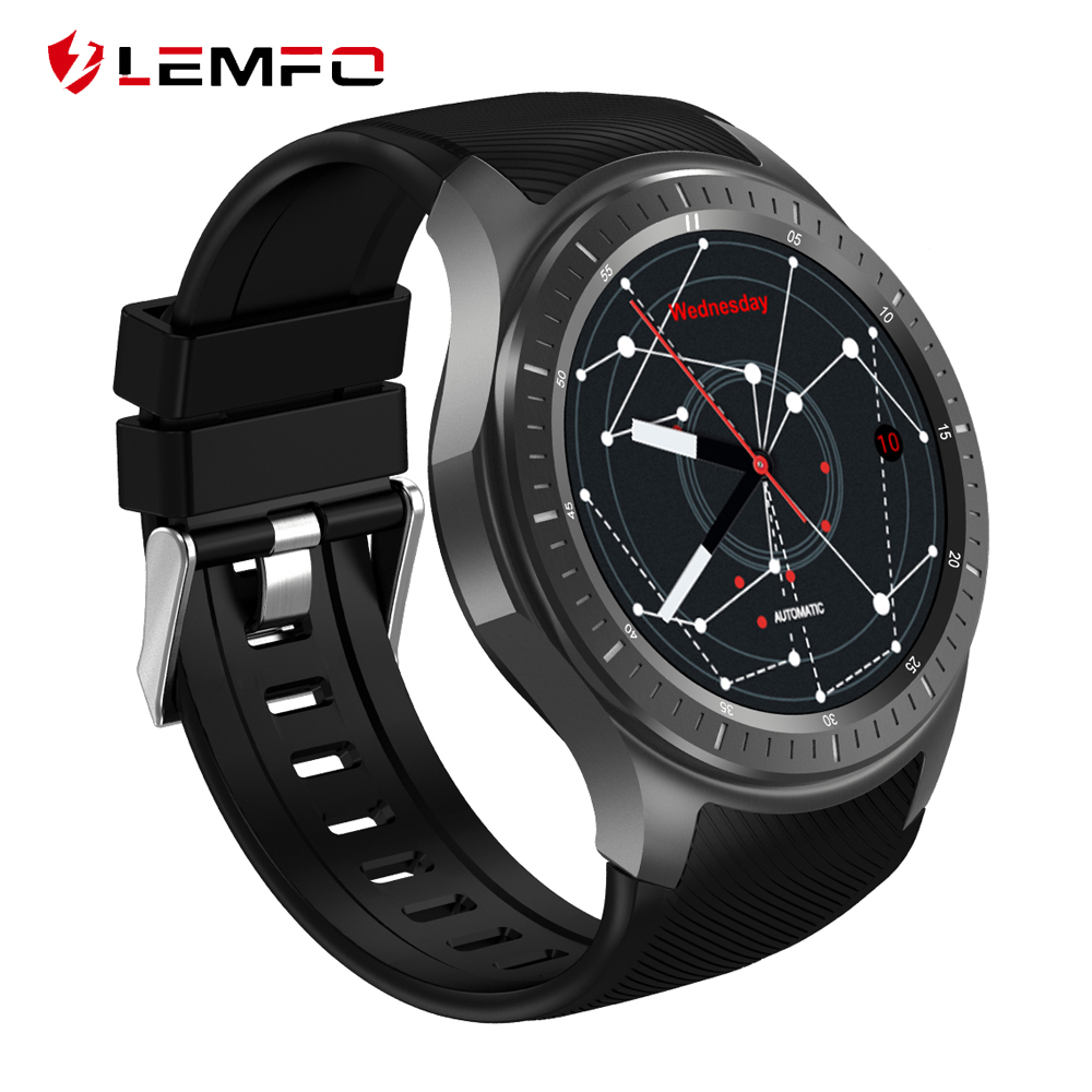 LEMFO LF25 Smart Watch Waterproof Android 7.1 1GB + 16GB Support SIM Card GPS WiFi Hear Rate Wrist Smart Watches Phone For Men