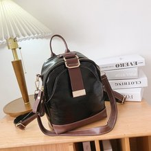 2020 New Fashion Solid Color Backpack For Women Luxury High Quality Soft Leather Shoulder Bag Autumn And Winter Mochila Feminina