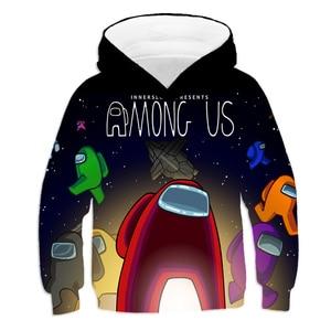 Funny Kids Game Costume Children's Clothes AMONG US Hoodies Kids Sweatshirts Hoody Cartoon Anime Tops Boys/Girls Pullover Hoodie