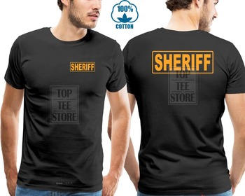 2019 New Brand Clothing Men Create A T-Shirt Sheriff Officer Law Enforcement Sheriff Polices K-9 Custom Printed T Shirt printio sheriff