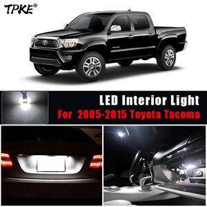 Image 1 - Tpke 8 pces acessórios do carro branco interior lâmpadas led pacote kit para 2005 2015 toyota tacoma mapa dome lâmpada da placa de licença