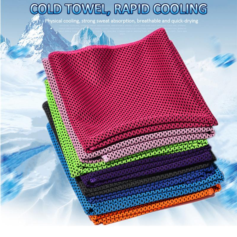 Yoga Fitness Cold Towel Sweat Wipes For Outdoor Sports Men's And Women's Fitness Quick-drying Sweat Towel