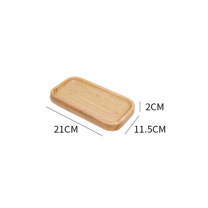 Wooden Round Storage Tray Plate Tea Food Dishe Drink Platter Food Plate Dinner Beef Steak Fruit Snack Tray Home Kitchen Decor - Цвет: 9