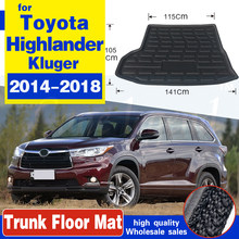 For Toyota Highlander Kluger 2014 2015 2016 2017 2018 Boot Mat Rear Trunk Liner Cargo Floor Carpet Mud Protector Car Accessories(China)