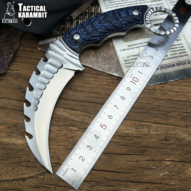 LCM66 Tactics <font><b>karambit</b></font> scorpion claw knife outdoor camping jungle survival battle Fixed blade hunting knives self defense tool image