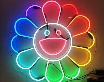 OFF W XX MURAkami sun flower   only  Neon Light Custom Neon Sign 55cm