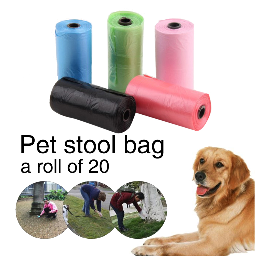 Hot Sale  New Multi-purpose Portable Pet Cat Puppy Dog Waste Poo Poop Bags Pet Color Random