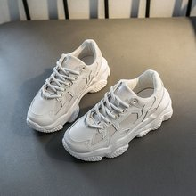 Casual shoes 2020 Spring Leather Women's Platform Chunky Sneakers Fashion Women Flat Thick Sole Shoes Woman Dad Footwear f21 180 degree multi use plastic combined four slot pipe bender tube bender household tools bending machinery manual elbow tool