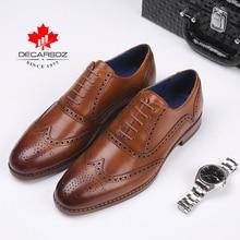 Мужские полуботинки из натуральной кожи DECARSDZ, брендовые туфли оксфорды, модная Новая роскошная классическая обувь для мужчин, деловая обувь