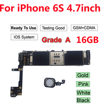 Free iCloud Unlocked for iPhone 6S motherboard for iPhone 6S 4.7'' Gold 16GB logic board with Full Chips Mainboard international language original n7100 mainboard chips logic 16gb for samsung galaxy note 2 motherboard