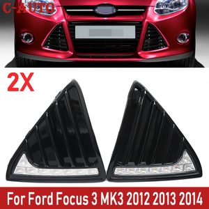 2Pcs/Set 12V LED Car Daytime Running Lights Fog lamp waterproof with dimming style Relay For Ford Focus 3 MK3 2012 2013 2014
