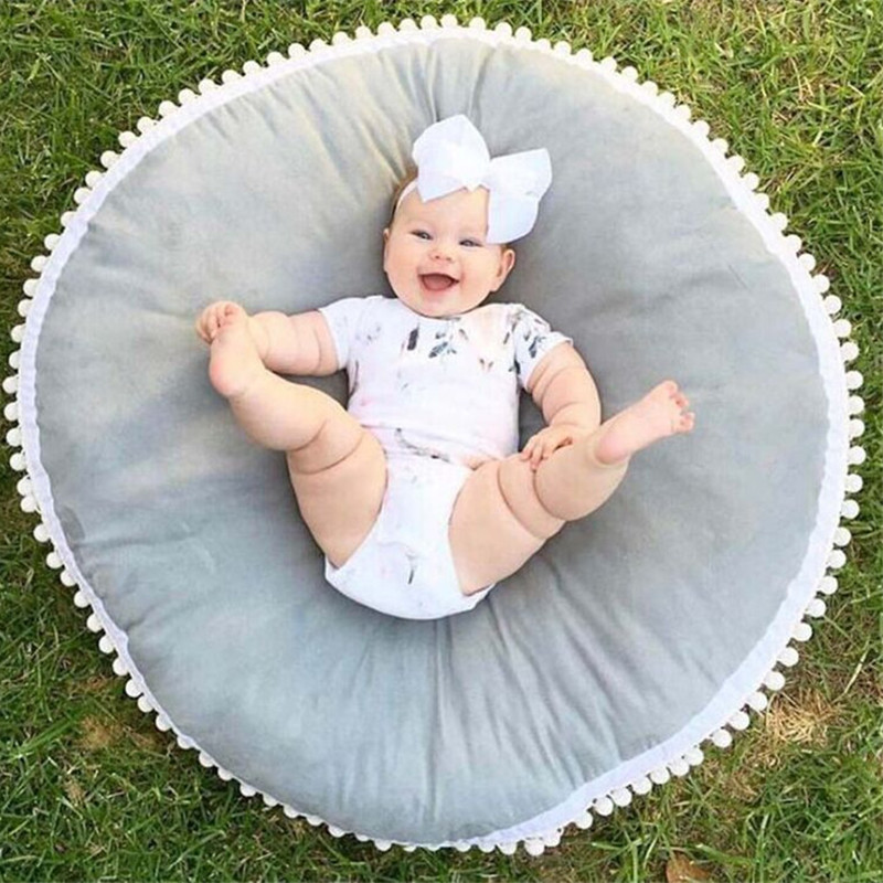 Tissu en coton épaississement rond bébé tapis rampant tapis 2019 nouveau doux antidérapant tapis de jeu activité pour bébés tapis de jeu bébé tapis